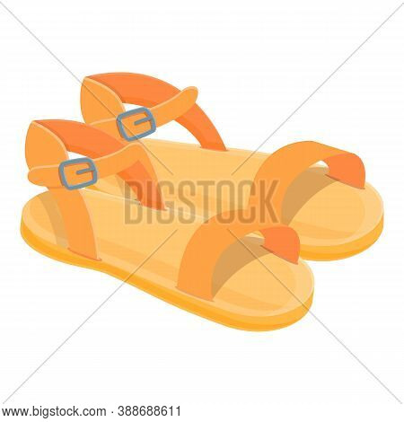 Trendy Sandals Icon. Cartoon Of Trendy Sandals Vector Icon For Web Design Isolated On White Backgrou