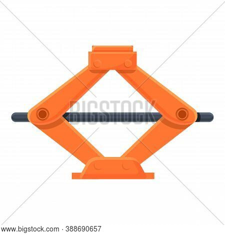 Car Lifter Icon. Cartoon Of Car Lifter Vector Icon For Web Design Isolated On White Background
