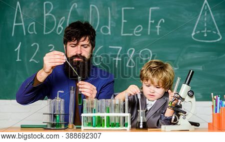 Chemical Experiment. Difficult Focus And Complete School Tasks. Symptoms Of Adhd At School. Persever