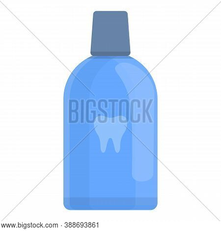Dental Rinse Icon. Cartoon Of Dental Rinse Vector Icon For Web Design Isolated On White Background