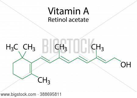 Vitamin A Formula, Great Design For Any Purposes. Vector Illustration.