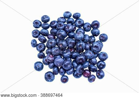 Blueberry Isolated. Blueberry On The White Background. Bilberry.