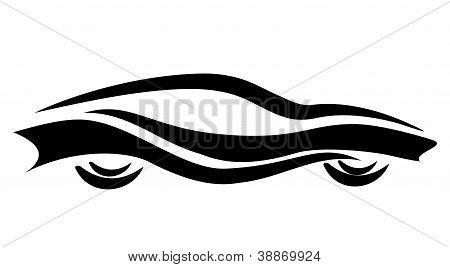 Stylized Car Symbol, Tattoo