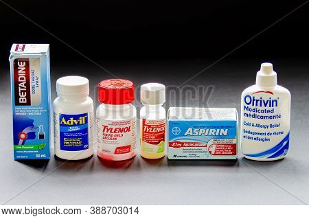 Calgary, Alberta, Canada. Oct, 6, 2020. Popular Cold Drugs Also Known As Acetaminophen, Is A Medicat