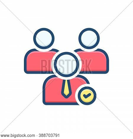 Color Illustration Icon For Nominees Candidacy Claimant Office-seeker Probationer