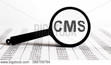 Magnifier With Text Cms On Chart Background