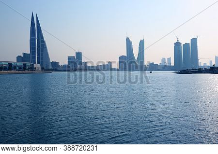 Bahrain Financial Harbor Or Bfh District With Groups Of Iconic Landmark, Manama, Bahrain, 14th Oct 2