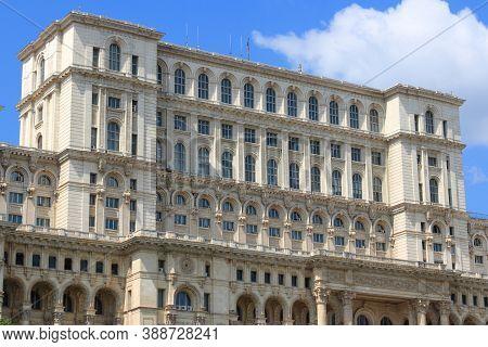 Palace Of The Parliament Of Romania (romanian: Palatul Parlamentului). Landmark In Bucharest, Romani