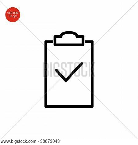Flat Image Of The Checklist Icon. Vector Illustration 10 Eps