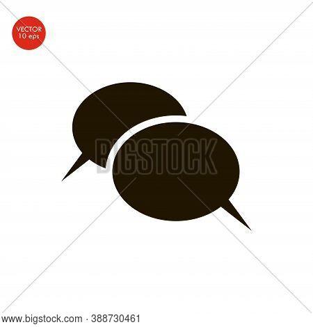 Flat Image Of The Speech Bubble Logo Design Template. Vector Illustration 10 Eps