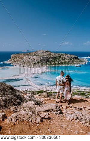 Balos Beach Cret Greece, Balos Beach Is On Of The Most Beautiful Beaches In Greece At The Greek Isla
