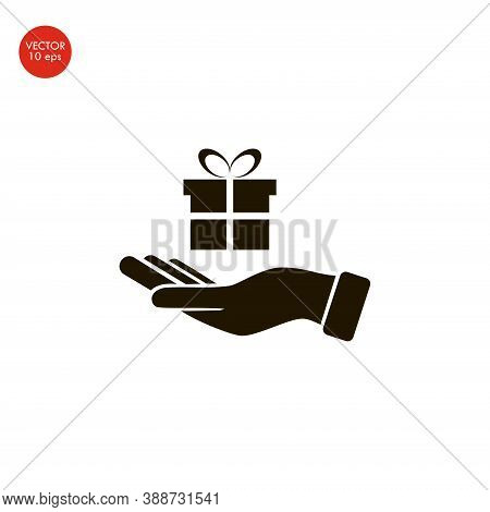 Pictograph Of Email In Hand Box . Vector Icon 10 Eps