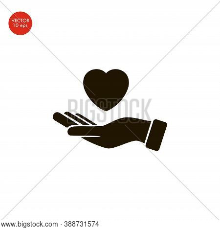 Flat Image Of The Heart Icon. Vector Illustration 10 Eps