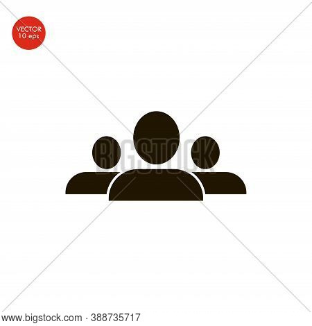 Flat Image Of The People Icon. Vector Illustration 10 Eps