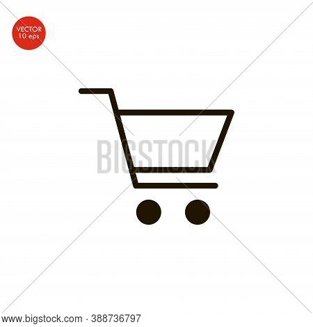 Flat Image Of The Shopping Cart Icon. Vector Illustration 10 Eps