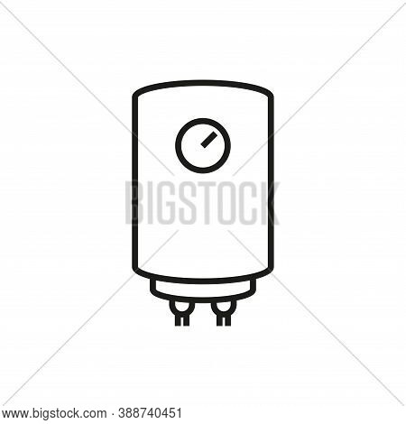 Water Heater Icon. Simple Linear Vector Illustration.