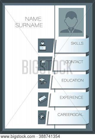 Mens Summary, Resume. Vector Template Summary. Design Creative, Professional Summary.