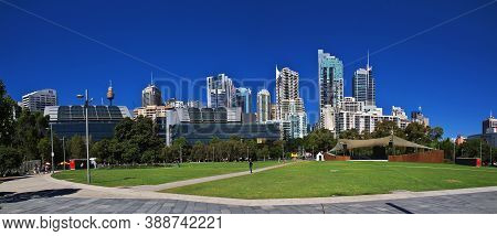 Sydney, Australia - 01 Jan 2019: The Waterfront Of Darling Harbour In Sydney, Australia