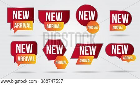 New Arrival Vector Illustration Collection Labels Shop Products.red Promotion Labels For Arrivals Sh