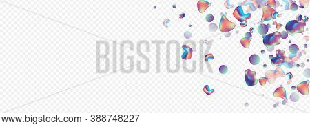 Holographic Holography Digital Vector Panoramic Transparent Background. Plastic Bubble Template. Neo
