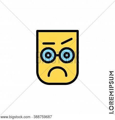 Thinking Face Emoji Color Icon. Style Sign For Mobile Concept And Web Design. Emoji Pondering Face S