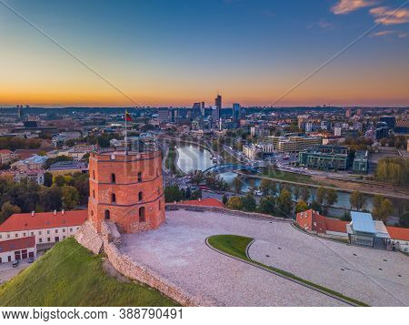 Gediminas Castle Tower In Vilnius, Capital Of Lithuania
