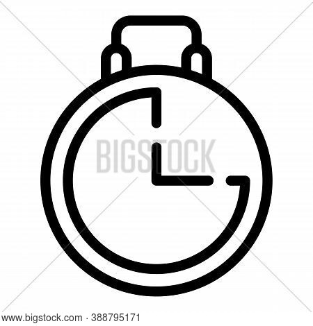 Stopwatch Start Icon. Outline Stopwatch Start Vector Icon For Web Design Isolated On White Backgroun