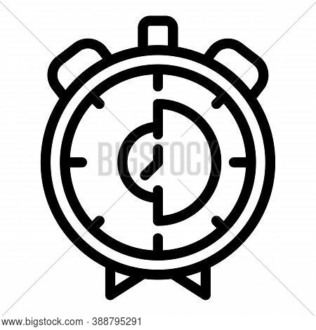 Analog Stopwatch Icon. Outline Analog Stopwatch Vector Icon For Web Design Isolated On White Backgro