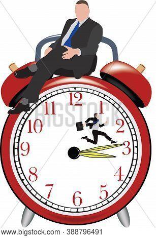 Maneger Sitting On The Alarm Clock Maneger Sitting On The Alarm Clock