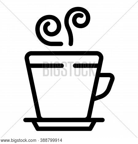 Steam Mug Icon. Outline Steam Mug Vector Icon For Web Design Isolated On White Background