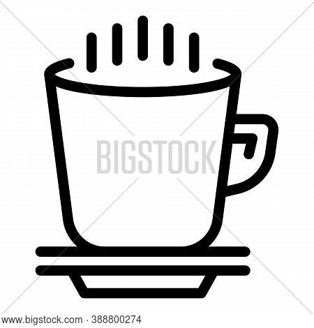 Beverage Mug Icon. Outline Beverage Mug Vector Icon For Web Design Isolated On White Background