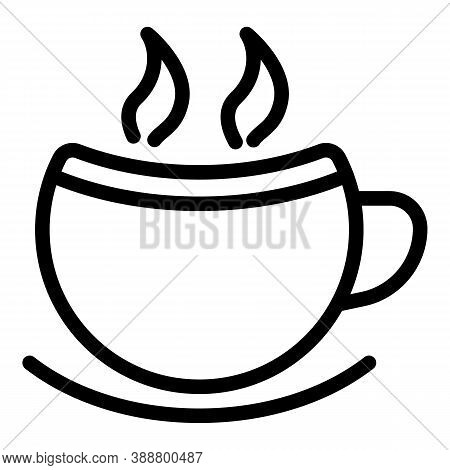 Morning Mug Icon. Outline Morning Mug Vector Icon For Web Design Isolated On White Background