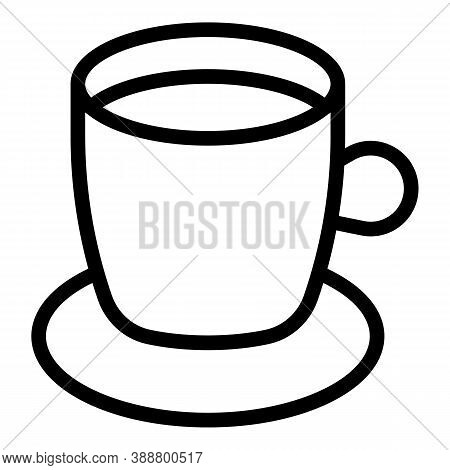 Water Coffee Mug Icon. Outline Water Coffee Mug Vector Icon For Web Design Isolated On White Backgro