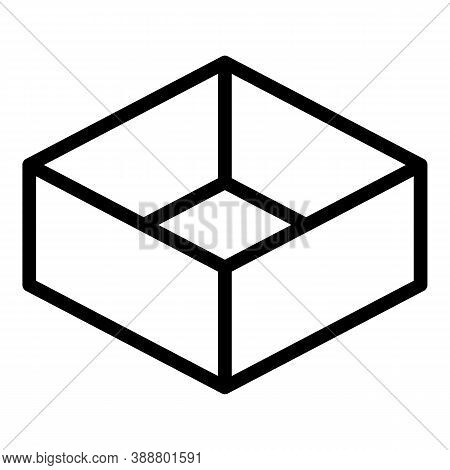 Package Box Icon. Outline Package Box Vector Icon For Web Design Isolated On White Background