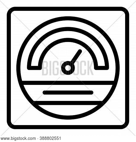 House Voltage Regulator Icon. Outline House Voltage Regulator Vector Icon For Web Design Isolated On