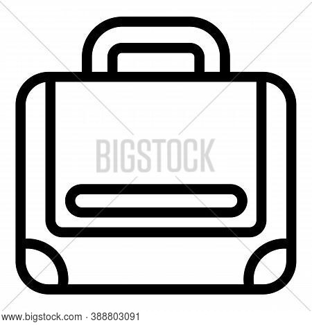 Strap Laptop Bag Icon. Outline Strap Laptop Bag Vector Icon For Web Design Isolated On White Backgro