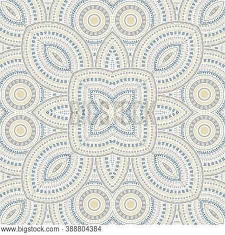 Elegant Portugese Azulejo Tile Seamless Rapport. Ethnic Geometric Vector Patchwork. Tapis Print Desi