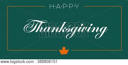Happy Thanksgiving Day Typographic Poster Design Template. Thank You Greeting Card Template. Backgro