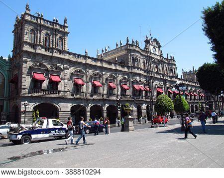 Puebla, Mexico - 02 Mar 2011: The Vintage Palace, Puebla, Mexico