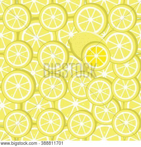 Seamless Lemon Pattern - Citrus Illustration. Seamless Lemon Pattern - Citrus Illustration.