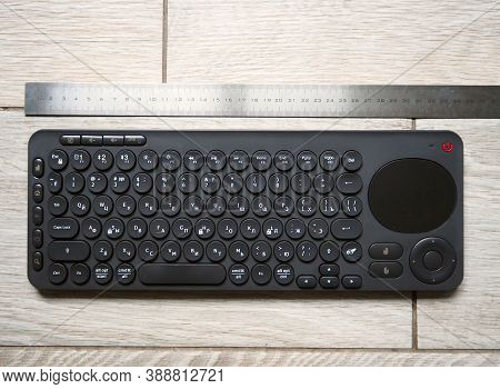 Wireless Keyboard For Personal Computer. The Keyboard Is Used Wirelessly To Connect To A Computer An