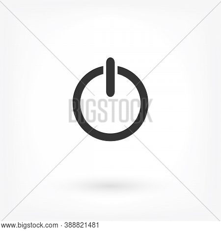 Vector Shut Down Icon . Lorem Ipsum Illustration Design