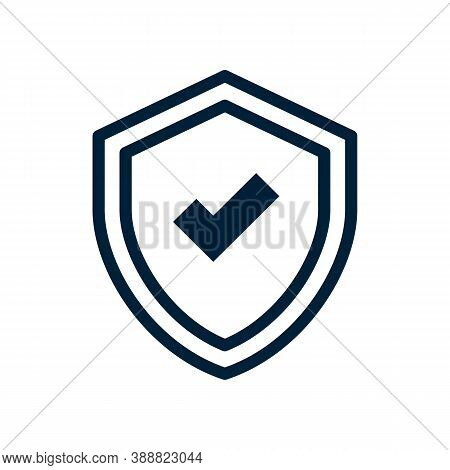 Shield Icon Isolated On White Background From Tab Bar And Settings Collection. Shield Icon Trendy An