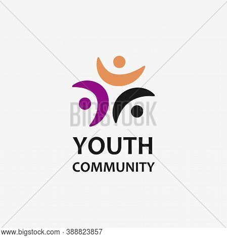 Youth Community Logo Isolated On White Background. Logo For Your Design. Vector Illustration.