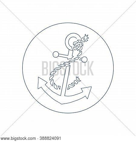 Anchor Icon Isolated On White Background. Anchor Icon, Anchor Icon Eps10, Anchor Icon Vector, Anchor
