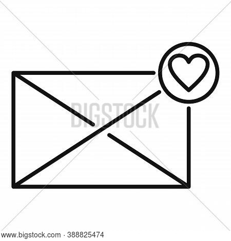 Affection Mail Icon. Outline Affection Mail Vector Icon For Web Design Isolated On White Background