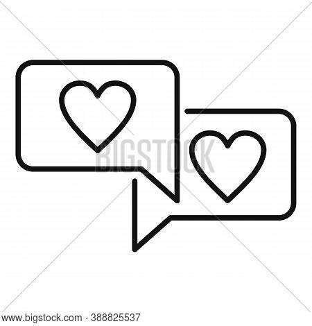 Affection Chat Icon. Outline Affection Chat Vector Icon For Web Design Isolated On White Background