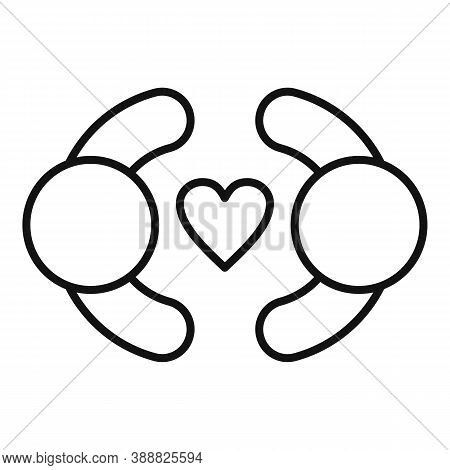 Affection Couple Icon. Outline Affection Couple Vector Icon For Web Design Isolated On White Backgro