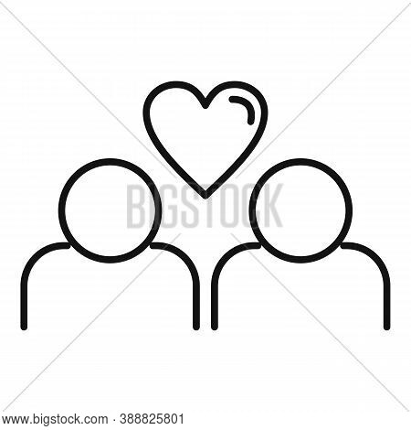 True Love Couple Icon. Outline True Love Couple Vector Icon For Web Design Isolated On White Backgro