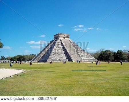 Chichen Itza, Yucatan, Mexico - 12 Mar 2011: Ancient Ruins Of Maya, Chichen Itza, Mexico